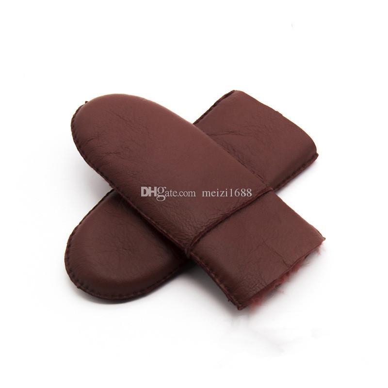 Бесплатная доставка новые женские перчатки без пальцев кожа качество чистой шерсти теплые женские перчатки