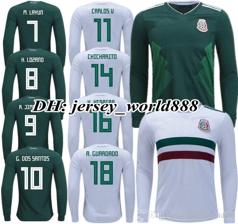 1625a72cc ... where can i buy 2018 top quality 2018 world cup mexico home away soccer  jersey long