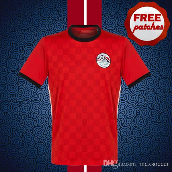 2019 Top Thai Quality Egypt 2018 2019 Red Home Soccer Jersey World Cup  RAMADAN M.SALAH Camisa De Football Shirts Free Patches From Maxsoccer 1f1dd3711