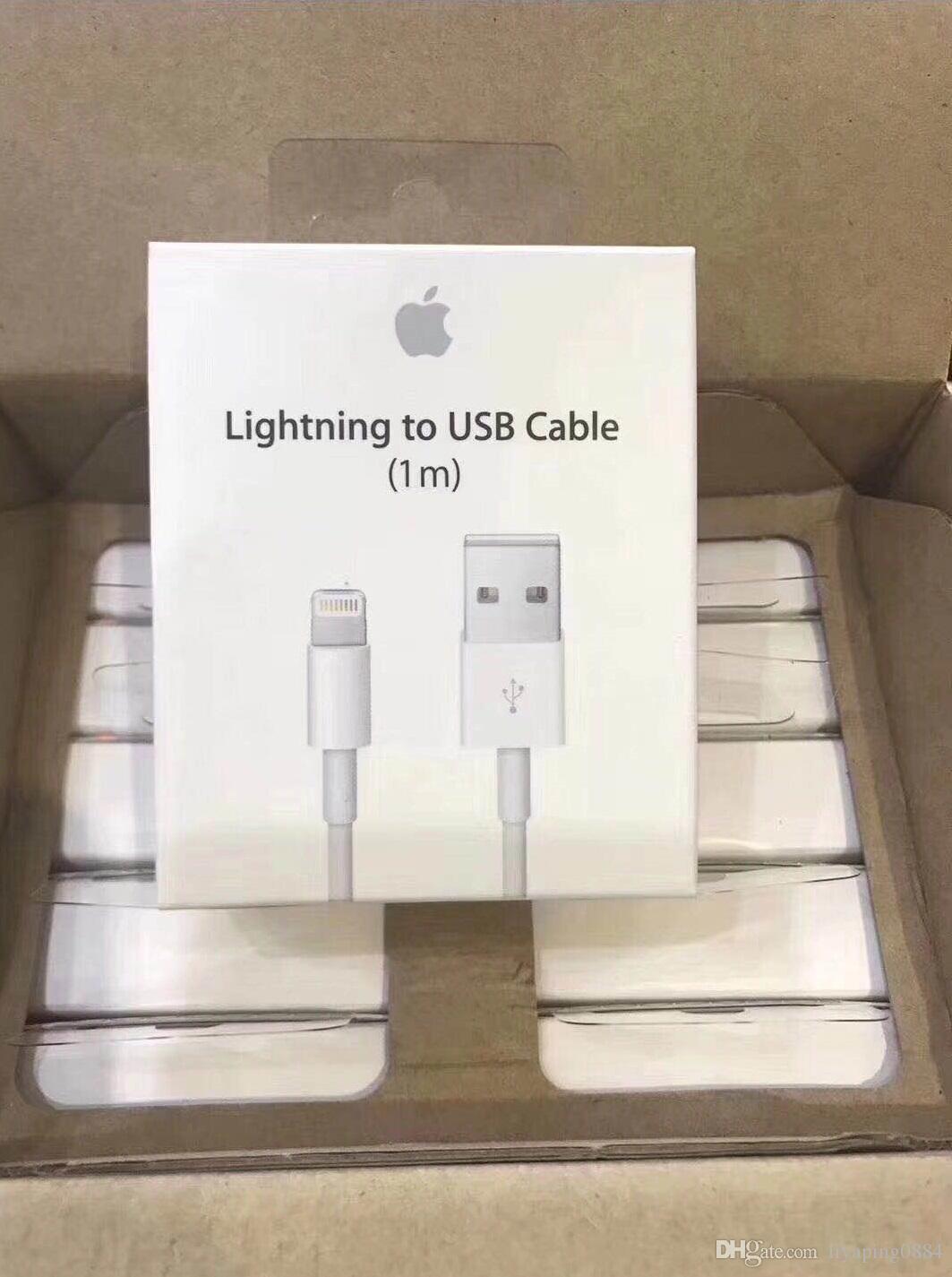 bda2e64d1f0 Conectar Teléfono Cable Lightning A USB Original De Apple Para IPhone XS XR X  8 7 6 6S Cable Para IPad Cargador Para Teléfono Móvil Cables USB Accesorios  ...
