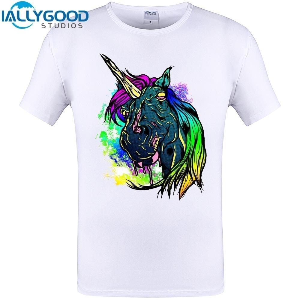Compre Camiseta Con Estampado De Unicornios En Color Zombie Camiseta Con  Estampado De Verano En Manga Corta Para Hombre A  7.1 Del Bergerbruno  f8e9012896d4f