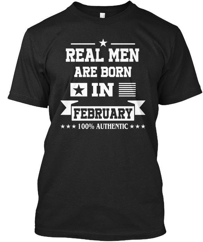One-of-a-kind Real Men Are Born In February Standard Unisex T-Shirt