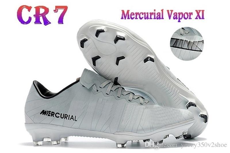 2018 Erkek Düşük Ayak Bileği Futbol Çizmeler CR7 Mercurial XI FG kapalı Futbol Ayakkabıları Superfly V Futbol Cleats çizmeler