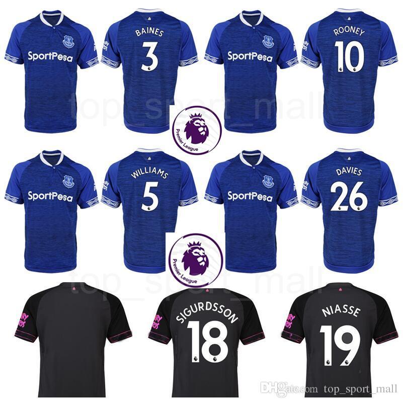 55b185e5d 2019 Premier League FC Everton Soccer Jersey Thai Men 18 19 Goalkeeper 1  PICKFORD 10 ROONEY 19 NIASSE 30 RICHARLISON Football Shirt Kits Unifrom  From ...
