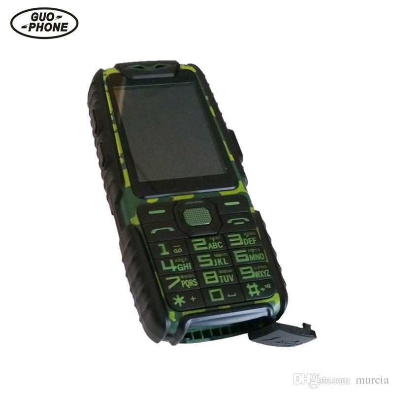 Guophone a6 handy 9800 mah superbatterie energienbank telefon täglich tri-proof 2g dual sim 2,4
