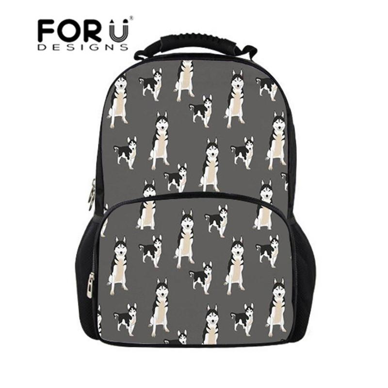 dd93aad0db FORUDESIGNS School Bags For Girls Husky Dog Printing Teen Backpacks School  Satchel Orthopedic Schoolbag Junior Students Book Bag Hype Backpack Rucksack  ...