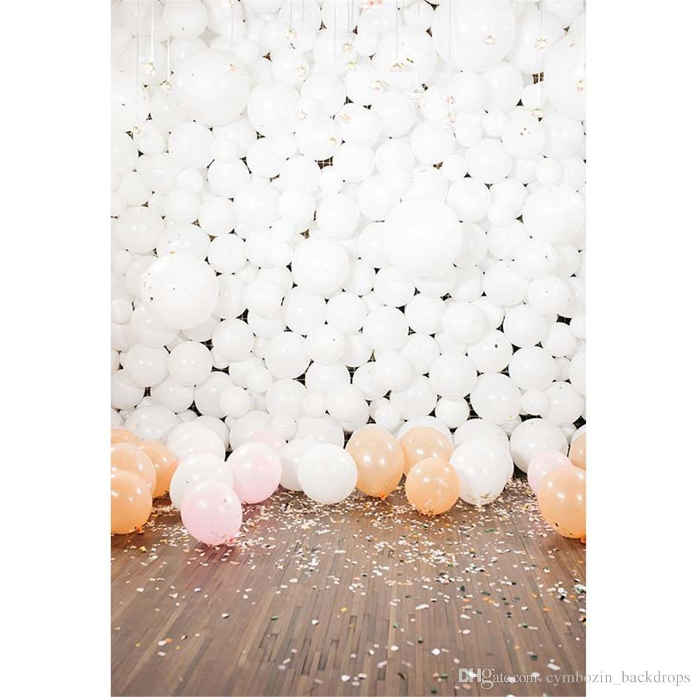 2018 white balloons baby kids birthday party backdrop for