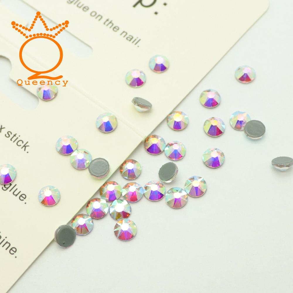 bb1bb2598 Crystal AB Color New Facted (8 big +8 small) SS10 SS16 SS20 SS30 Shiny  Crystal Nail Art Hotfix Rhinestone For Clothes Decoration