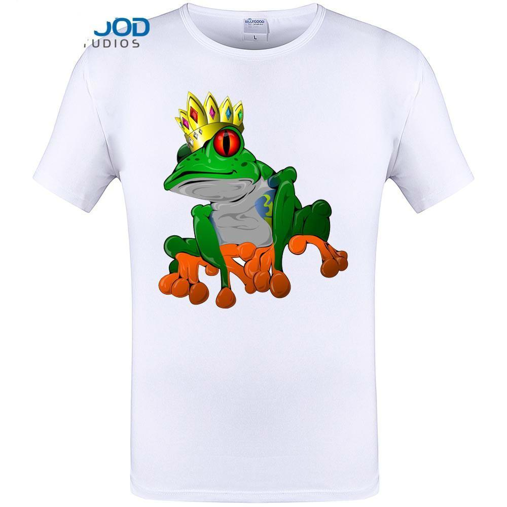 c0297c5b Cool Frog Prince King Print Mens Fashion T Hipster Funny Design Tops Short  Sleeve O Neck Tee Shirt Plus Size Clothing Funky T Shirt Design T Shirt  Every Day ...
