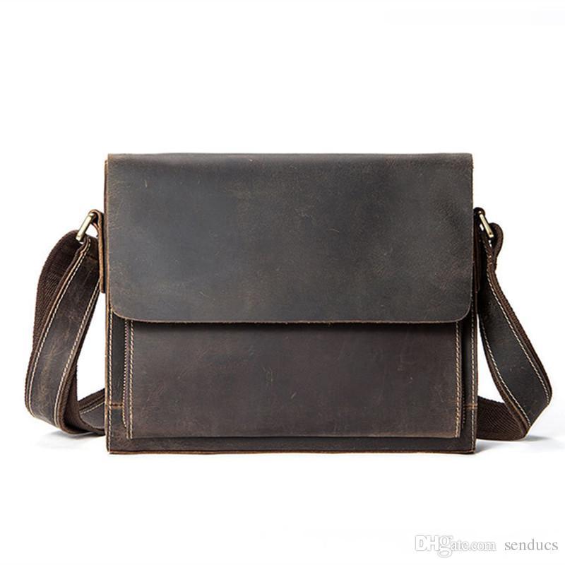 7369b81d3f37 Leather Briefcase male Genuine Leather Messenger Bag Men Leather Laptop Bag  Briefcase Messenger Bags Men's Shoulder Bags Man bags