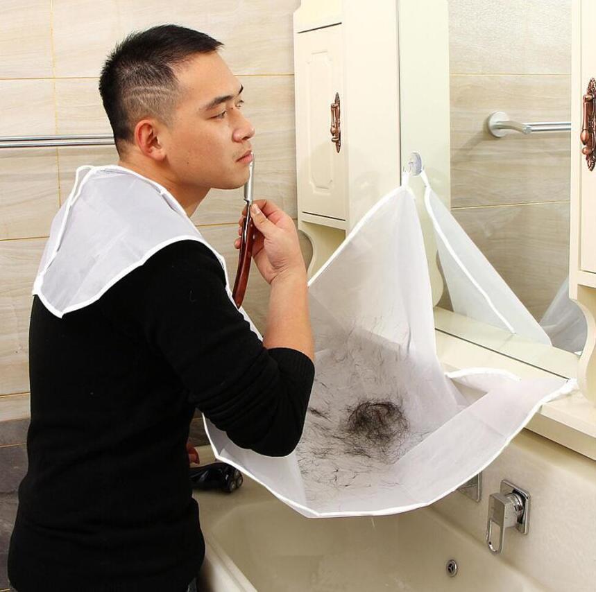 Sakal Önlük Sakal Bakımı Temiz Bez Önlemek Önlük Yüz Saç Boyası Trimmings Tıraş Önlük Catcher Cape ile Iki Vantuz