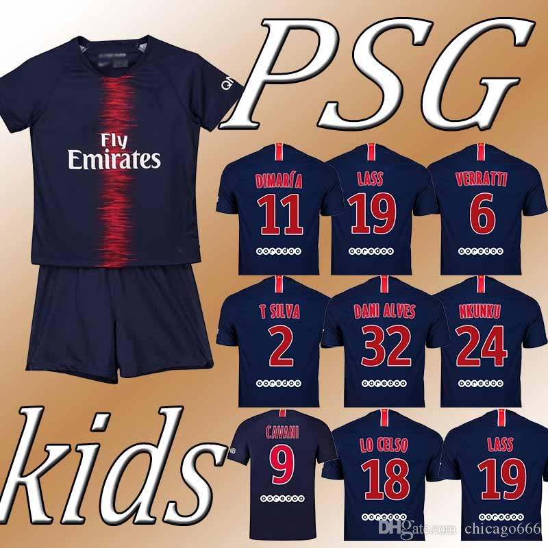 30c12c268 2019 YOUTH JERSEYS Cavani Mbappe Verratti Di Maria New Customizable Hot  Sale High Quality Club Team Football Uniform From Chicago666