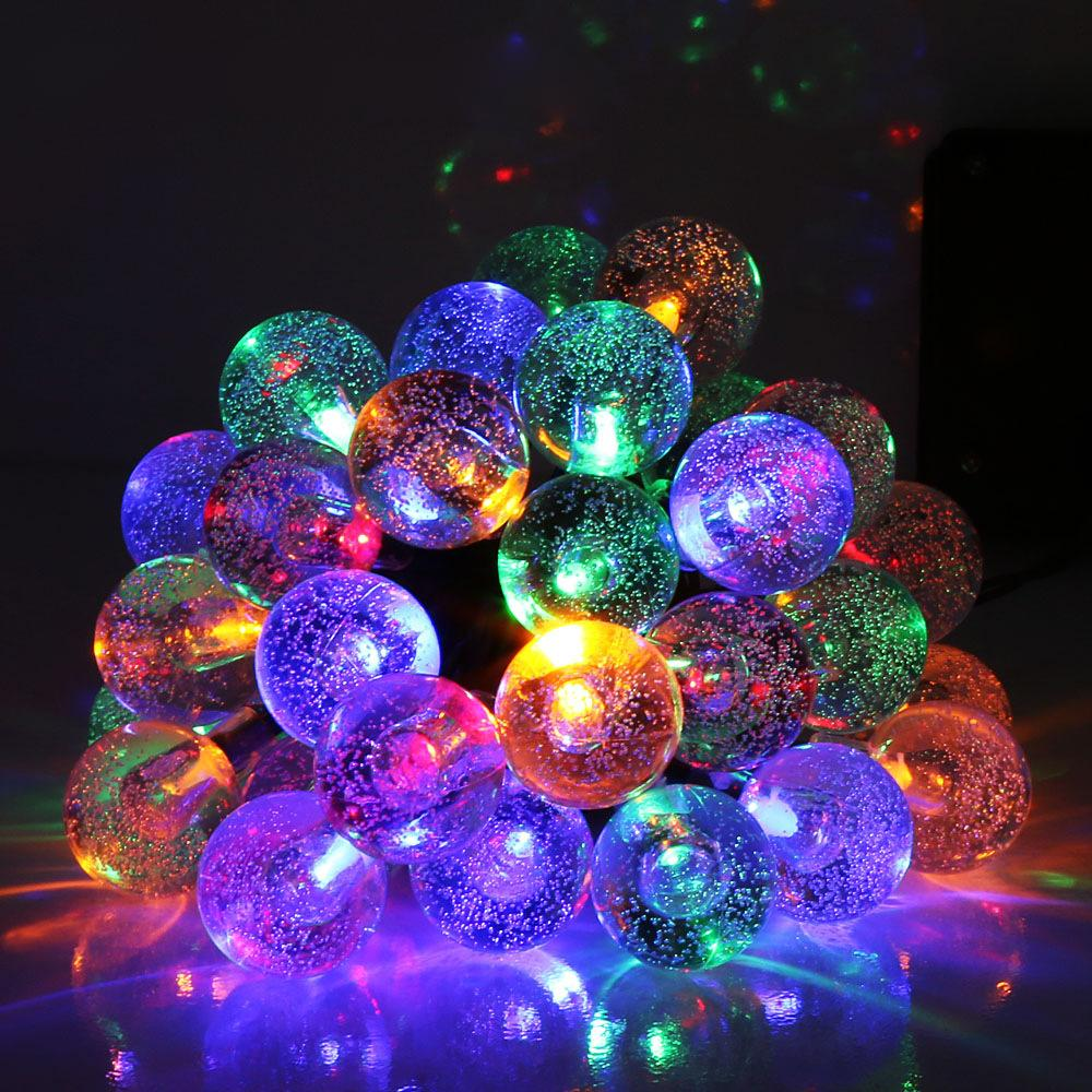 led solar garden lights bubble garden landscape string waterproof decorative lamp christmas lighting lamp wedding string lights patio light string from