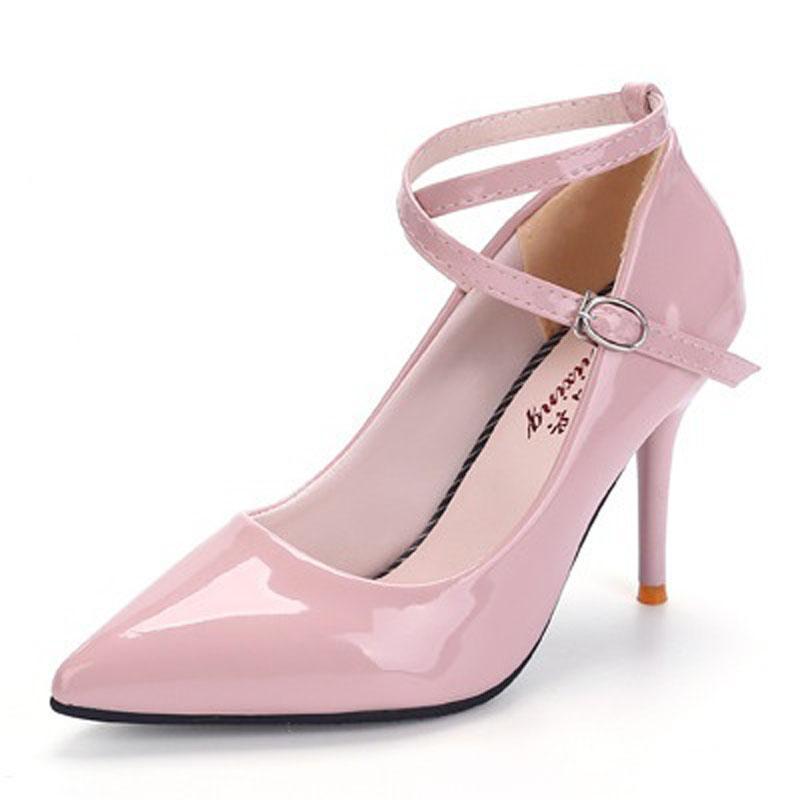a54fc1ecf Compre 2018 Moda Rosa Sexy De Salto Alto Para Bombas Das Mulheres Com Sapatos  Femininos Mulher Vestido De Casamento Ladies Party Preto Vermelho Branco ...