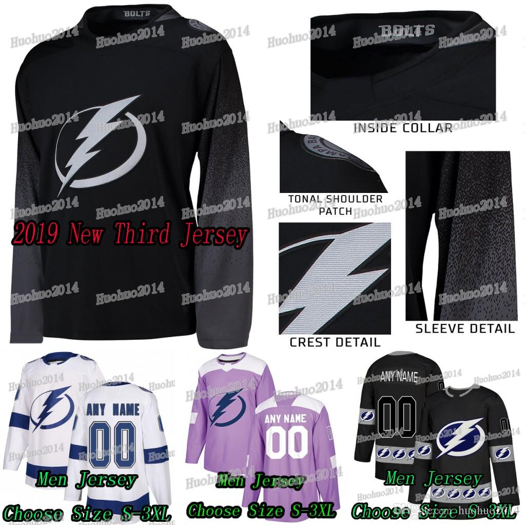 2018-19 New Third Custom Tampa Bay Lightning Ryan McDonagh Andrei ... ca88f0e2218