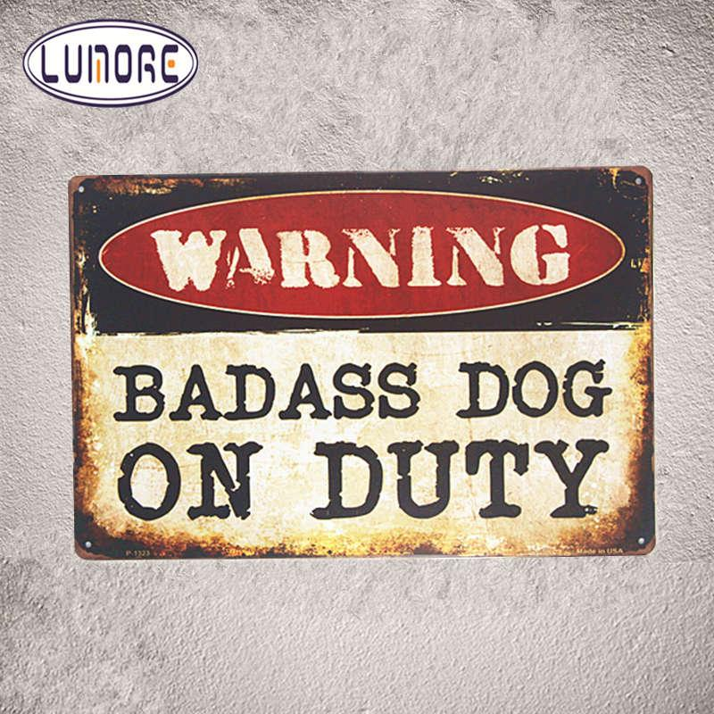 Security Warning Signs Badass Dog On Duty