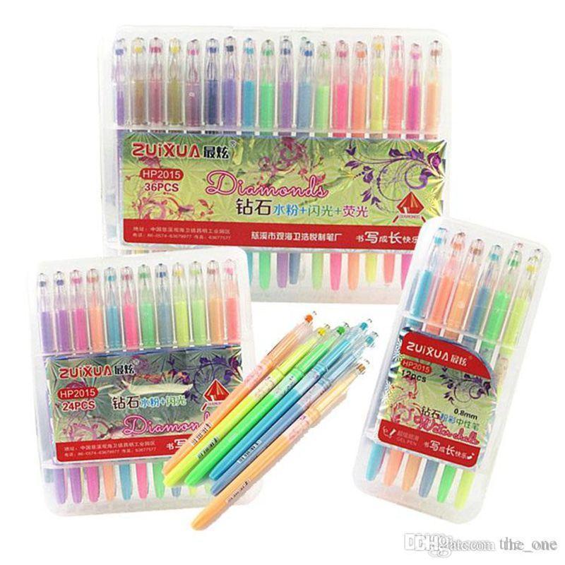 Satın Al Neon Su Tebeşir Jel Kalemler Elmas Jel Kalemler Için Boyama