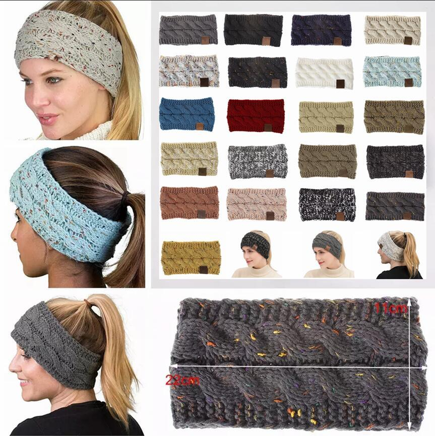 a16cfc9d83a Knitted Crochet Headband Women Winter Sports Headwrap Hairband Turban Head  Band Ear Warmer Beanie Cap Headbands AAA1435 Beach Hats Beanie Hats For Men  From ...