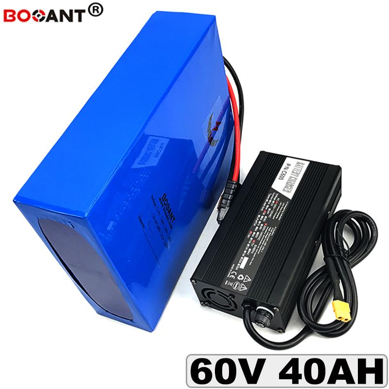 Electric Bicycle Battery 60V 40AH For Bafang BBSHD 3000W Motor 5A Charger  50A BMS electric Scooter Battery 60V Free Shipping