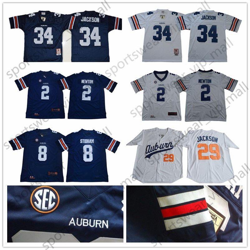 huge selection of 60341 053a2 NCAA Auburn Tigers Jersey men kids youth #34 Bo Jackson Cameron Newtone  white blue University Retro College Football Jerseys