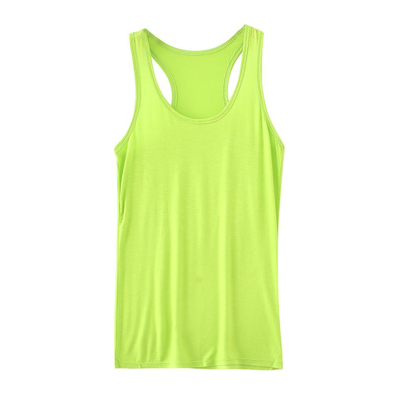 fd7ded63059eff Casual Women Modal Tank Top Sleeveless Scoop Neck Racer Back Solid Slim Fit  Workout Fitness Vest 2018 Summer Fashion Basic Tops Online with   28.28 Piece on ...