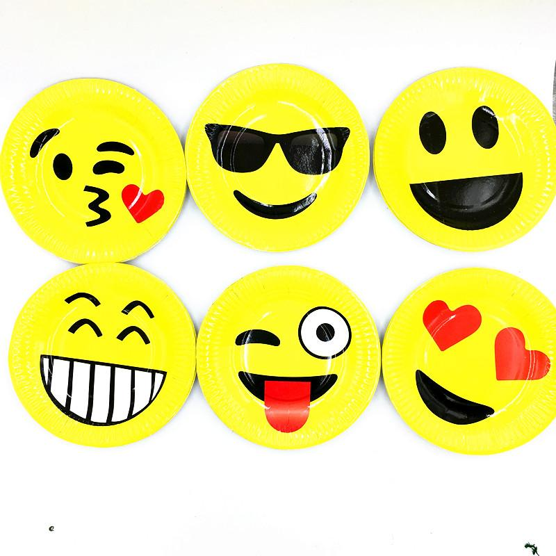 2019 SINGLE EMOJI PLATES DISHES KIDS BIRTHDAY PARTY FAVORS HAPPY SUPPLIES PAPER From Baolv 2162