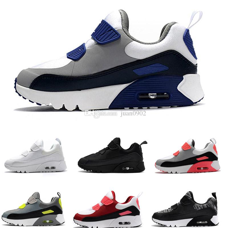 7d18aa17a4f Compre Nike Air Max 90 Zapatos Atléticos Para Niños Presto 90 II Zapatos  Para Correr Para Niños Negro Blanco Zapatillas Para Bebés Infantiles 90  Zapatos ...