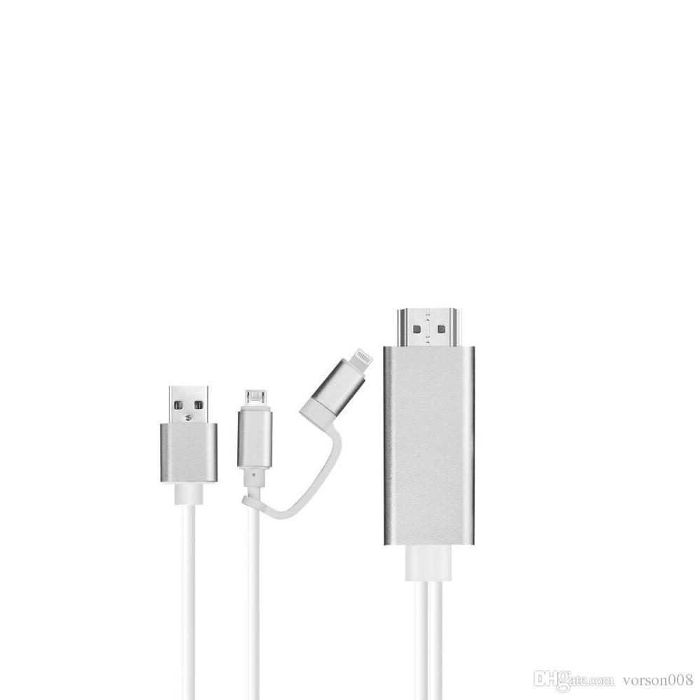 Blitz zu HDMI Kabel Adapter, Blitz Digital AV Adapter Micro USB zu HDMI 1080P HDTV Kabel für iPhone XS Max / XS / XR