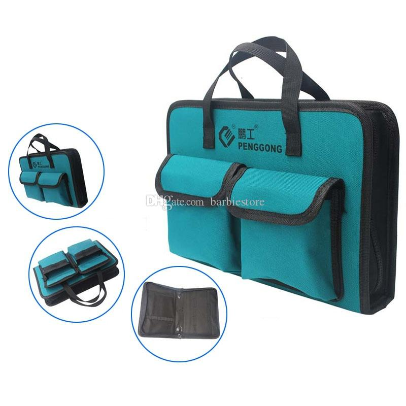 Oxford Cloth Waterproof Tool Bag Electrician Plumber Portable Screws Drill Bit Storage Pouch Hand Repair Tool Organizer Case Kit Tool Bags