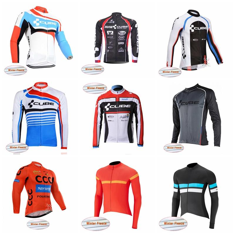 264732583 CAPO CCC CUBE team Cycling Winter men Thermal Fleece jersey pro team  Breathable quick dry Compressed bicycle jersey wear practical 10404X