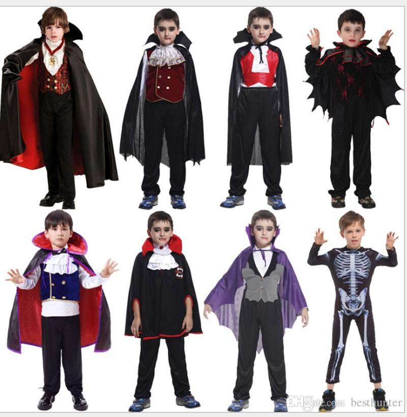 Vampire Masquerade Performance Costume Boys' Halloween/Carnival / Children's Day Festival/Holiday Halloween Costumes WSJ-52