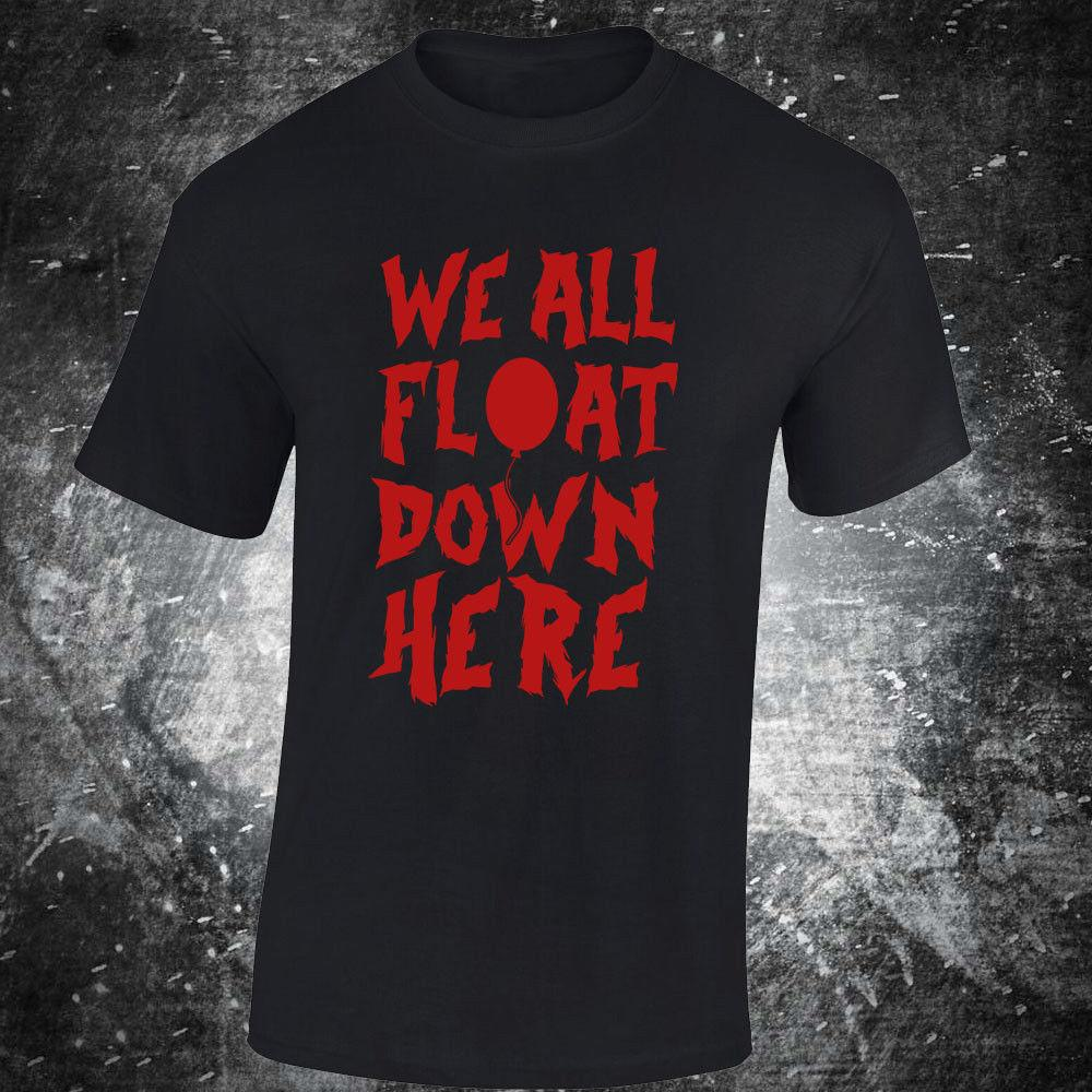 935914eb3c9f Sku4 T Shirt Tee It Stephen Kings We All Float Down Here Clown Pennywise  Horror Hip Hop Men Tshirt Rock Unisex T Shirt Fashion Awesome Shirts Cool T  Shirts ...