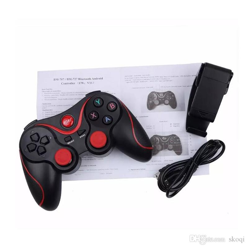 2018 Smartphone Game Controller Wireless Bluetooth Phone Gamepad Joystick for Phone/Pad/Android Tablet PC TV BOX+phone holder