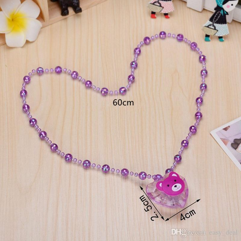 LED Necklace Light Up Necklace Toys Children Kids Novelty Flashing Halloween Club Pub Birthday Halloween Party F20173201