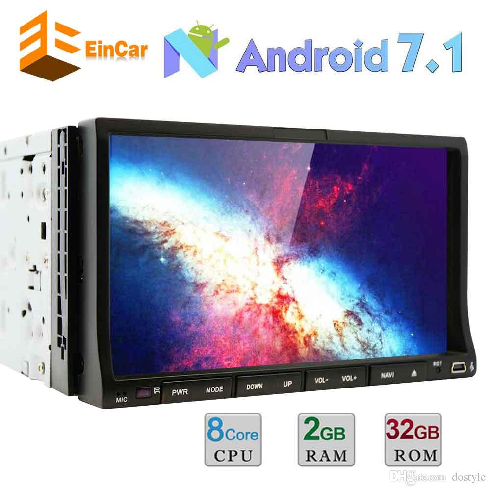 37fee45a8 Android 7.1 Car DVD Player Double Din 7   Car Stereo GPS Navigation  Bluetooth AM FM Radio Mirrorlink OBD2 Steering Wheel Control Portable Dvd  Player On Sale ...