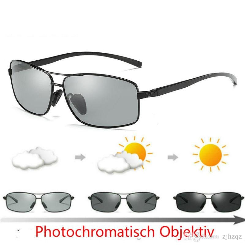e6859bf9a3c Mens Womens HD Polarized Photochromic Sunglasses Transition Lens ...