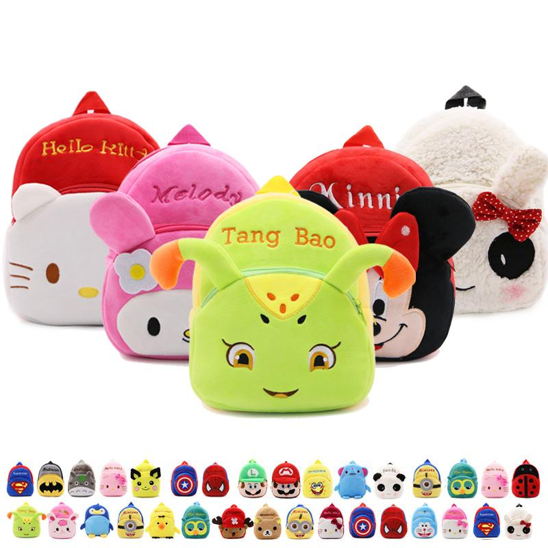 f856fa0874 Wholesale Kids Plush Backpacks Mini Schoolbag Plush Cartoon Pupils Backpack  Girls Character School Bag Soft Nap Cute Baby Bags Backpacks In Style  Notebook ...