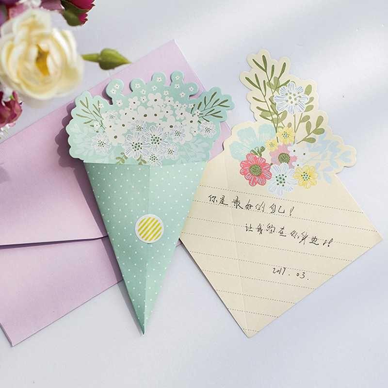 2018 8 envelopes 16 sheets letters elegant bouquet flower letter