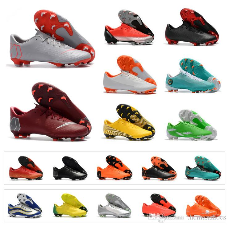 dac5cd6fe24 2019 Mens Mercurial Vapor XII PRO FG CR7 12 Low CR7 Ronaldo Neymar 20th  Anniversary 1998 2014 Women Boys Soccer Football Shoes Size 36 45 From  Themaxshoes