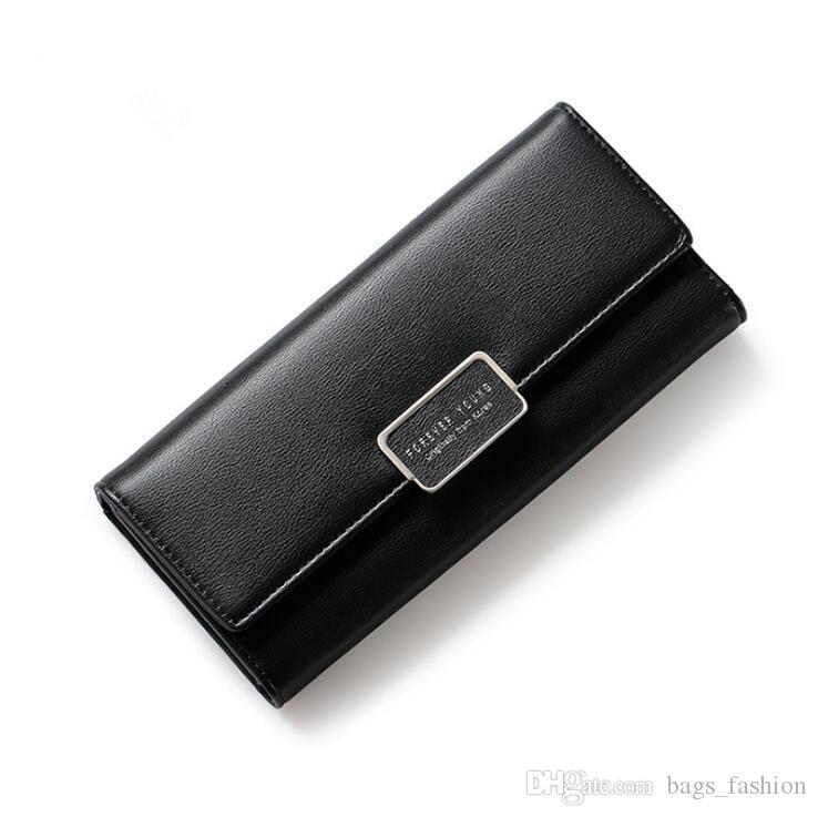 Frauen Brieftasche 2018 Marke Schöne Pu-leder Lange Mädchen Ändern Verschluss Geldbörse Weiblichen Geld Münze Kartenhalter Dame Clutch Wallets Carteras 10 Farbe