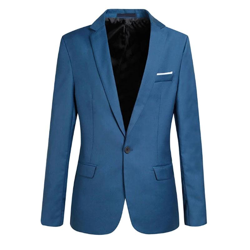 7327c814be7 Fashion Spring Autumn Men Blazer Long Sleeve Solid Color Slim Man Casual  Thin Suit Jacket Office Blazers Plus Size S-6XL -MX8 Aliexpress  Aliexpress.com .