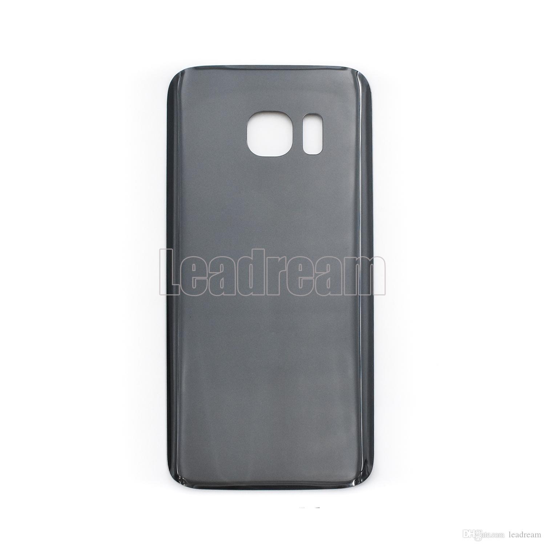 original batterie porte arrière logement couvercle couvercle en verre pour Samsung Galaxy S7 G930P S7 Edge G935P avec autocollant adhésif gratuit DHL