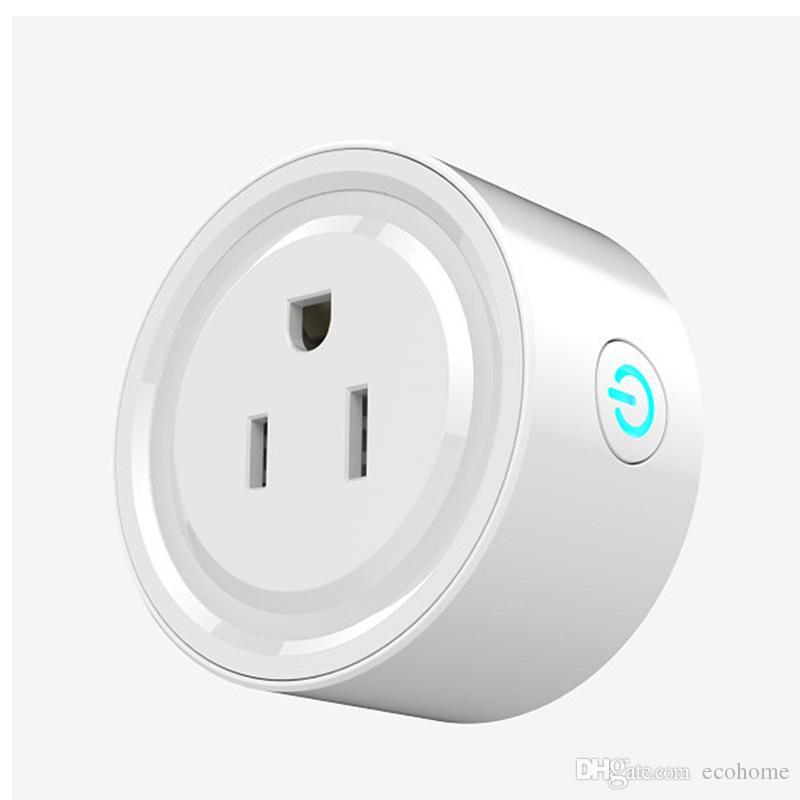 e3fac30b8f Compre Tomada Inteligente Plug Mini Smart Outlet Work Com Alexa Echo Google  Home Para Controle De Voz Com Função Timing De Ecohome