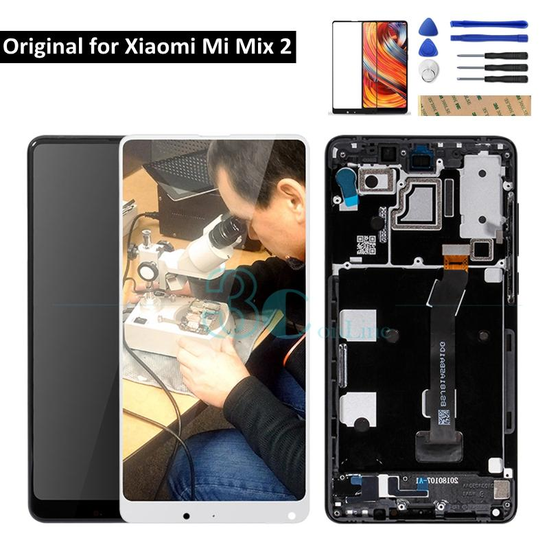 c4005e56d Original Xiaomi Mi Mix 2 LCD Display Screen Touch Panel + Frame Digitizer Assembly  Xiaomi Mi Mix Evo Replacement Spare Parts