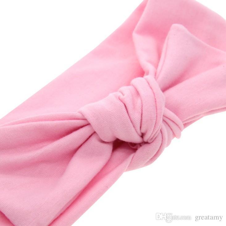 couleur unie bébé bandeau 2018 nouveau style nouveau-né pur oreille de lapin couleur accessoires pour cheveux bowknot heandbands enfant en bas âge infantile enfants hairband
