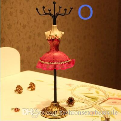 wholesale 4 style European Princess Model Decoration Earrings Display Stand/Necklace Frame Creative Jewelry gift Female mannequin C549