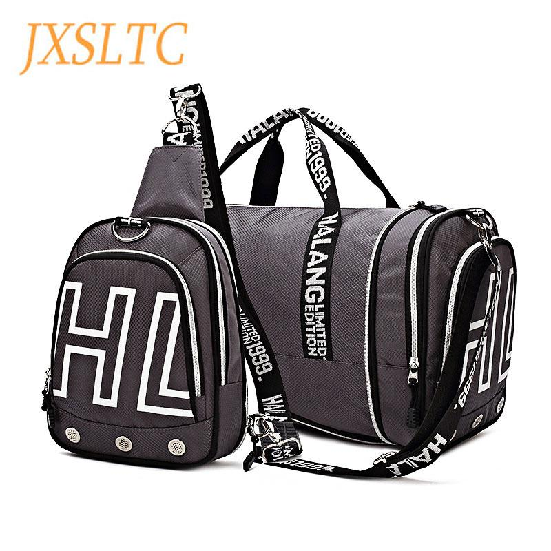 e335fa67a76 JXSLTC Fashion Mens Travel Bag Multifunctional Foldable Chest Backpack  Large Capacity Designer Hand Luggage Travel Duffle Bags Duffle Bags For Men  ...