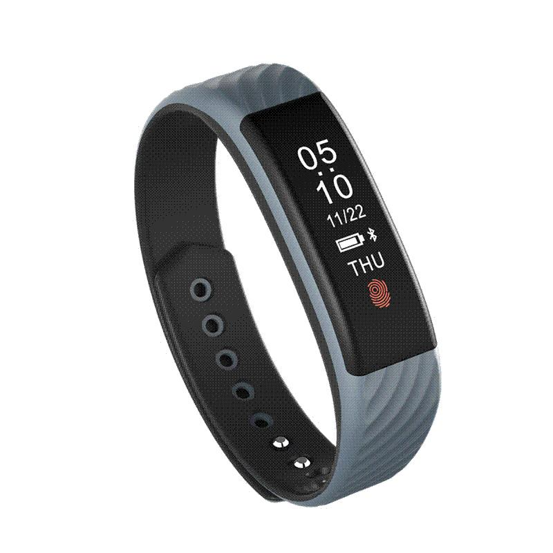 SCELTECH Smart Armband W810 Schrittzähler Band Pulsmesser Sport Tracking Touch Smartband für iPhone Android iOS Smartphone