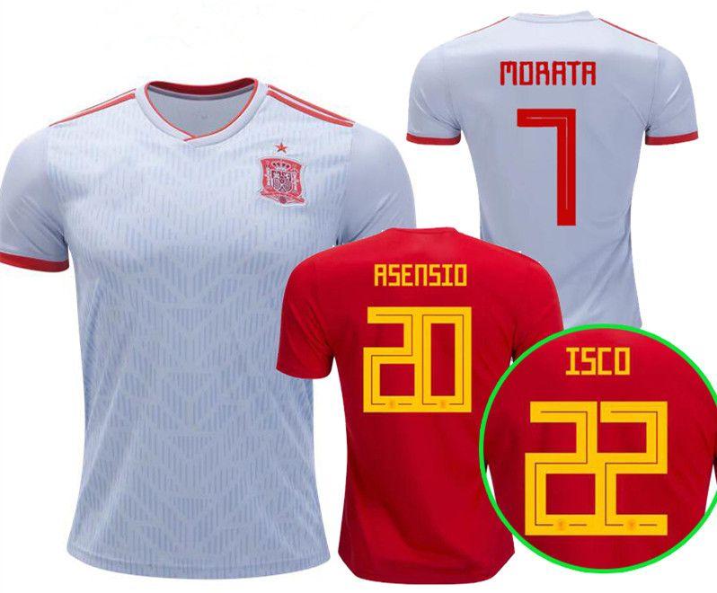 2019 Spain Home Awary Soccer Jersey 2018 World Cup Spain ISCO PIQUE Soccer  Shirt 2018 ASENSIO RAMOS Football Uniforms Sales Camiseta De Futbol From ... d09970b42