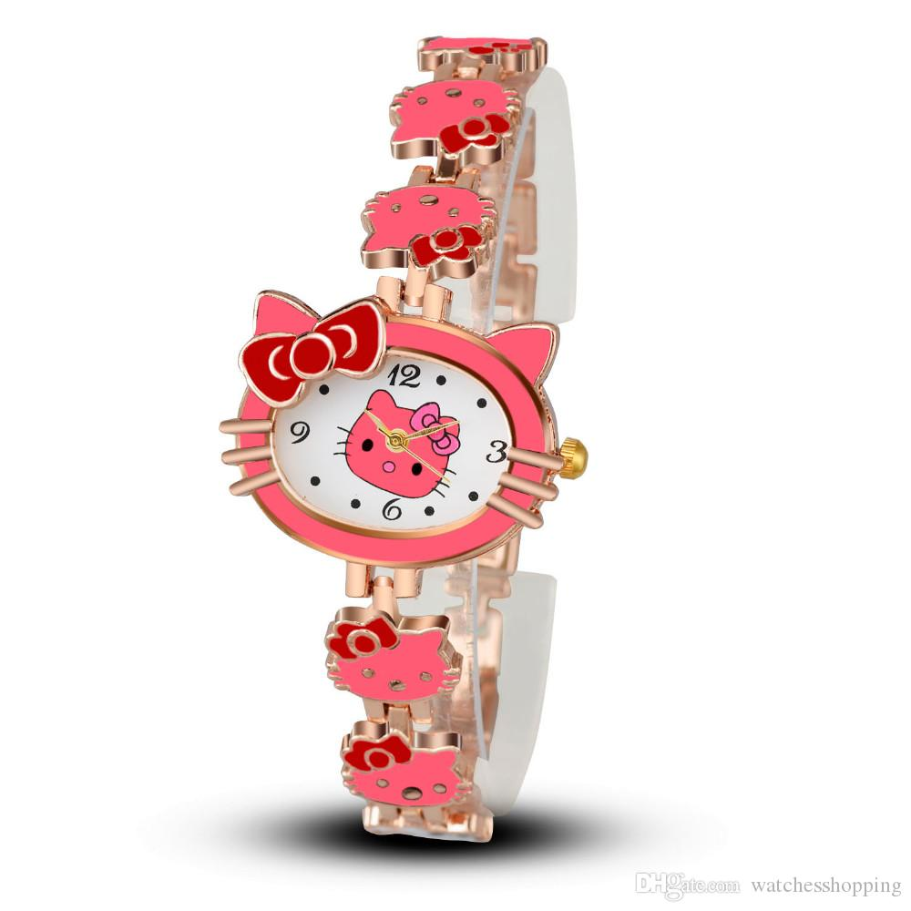 089240d15 2018 New Women Child Cartoon Bracelet Watch Hello Kitty Fashion Casual  Dress Quartz Wristwatch Female Mujer Relojes Hot Sale Kid Clock Great  Watches ...